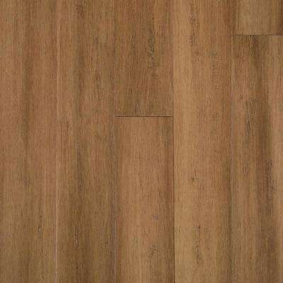 Hand Scraped Strand Woven Almond 3/8 in. T x 5-1/8 in. W x 72-7/8 in. L Eng Click Bamboo Flooring (25.88 sq. ft. / case)