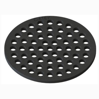 Round 6-1/4 in. Black Cast Iron Floor Drain Cover