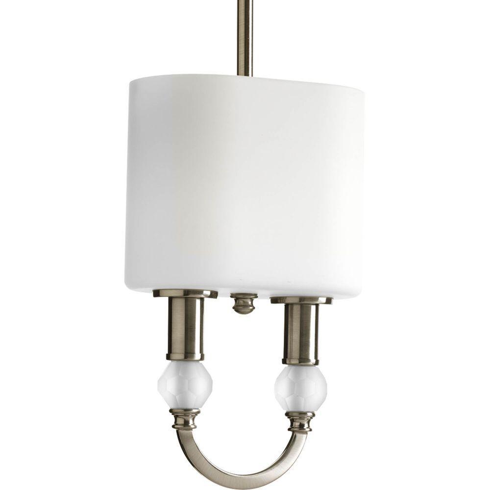 Splendid Collection 2-Light Brushed Nickel Mini Pendant