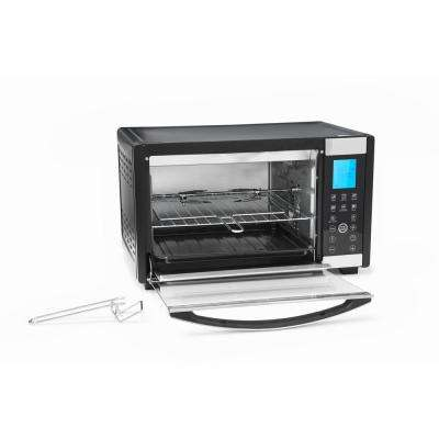6-Slice 0.64 cu. ft. Black Convection Toaster Oven
