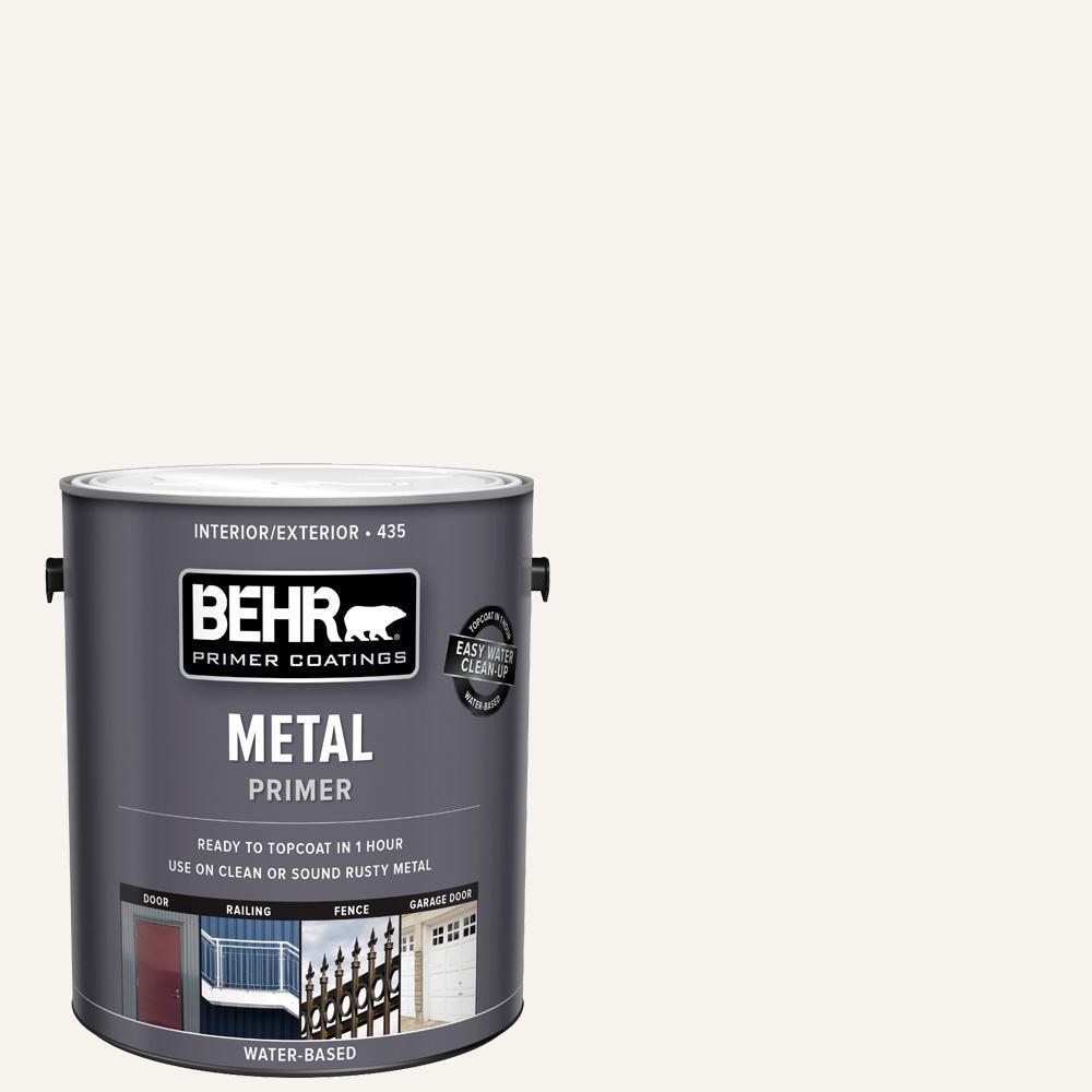 Behr 1 Gal White Interior Exterior Metal Primer 43501 The Home Depot