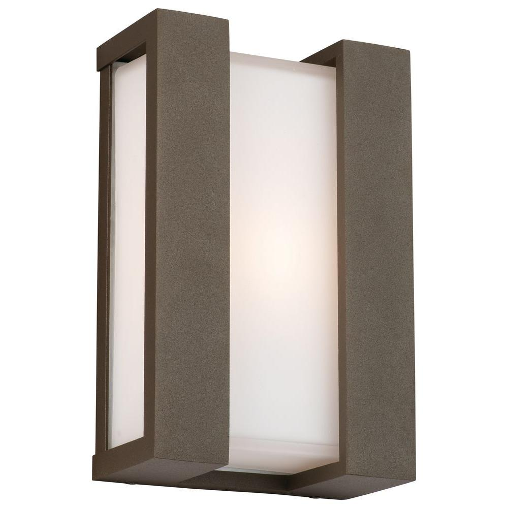 Philips Forecast Newport Wall-Mount 1-Light Outdoor Bronze TDL Lantern-DISCONTINUED