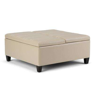 Beige Ottomans Living Room Furniture The Home Depot