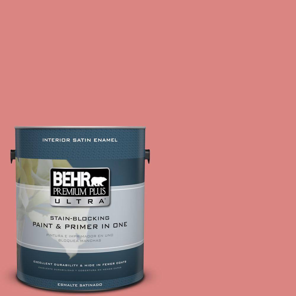 BEHR Premium Plus Ultra 1-gal. #M160-5 Pink Damask Satin Enamel ...