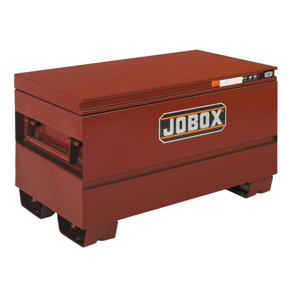 Jobox 48 in. Long Heavy-Duty Steel Chest with Site-Vault Security System