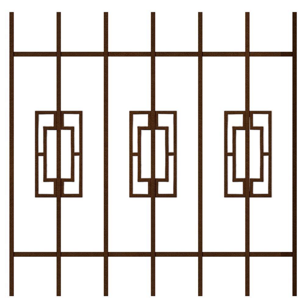 Unique Home Designs Modern Trifecta 36 in. x 36 in. Copper 7-Bar Window Guard-DISCONTINUED