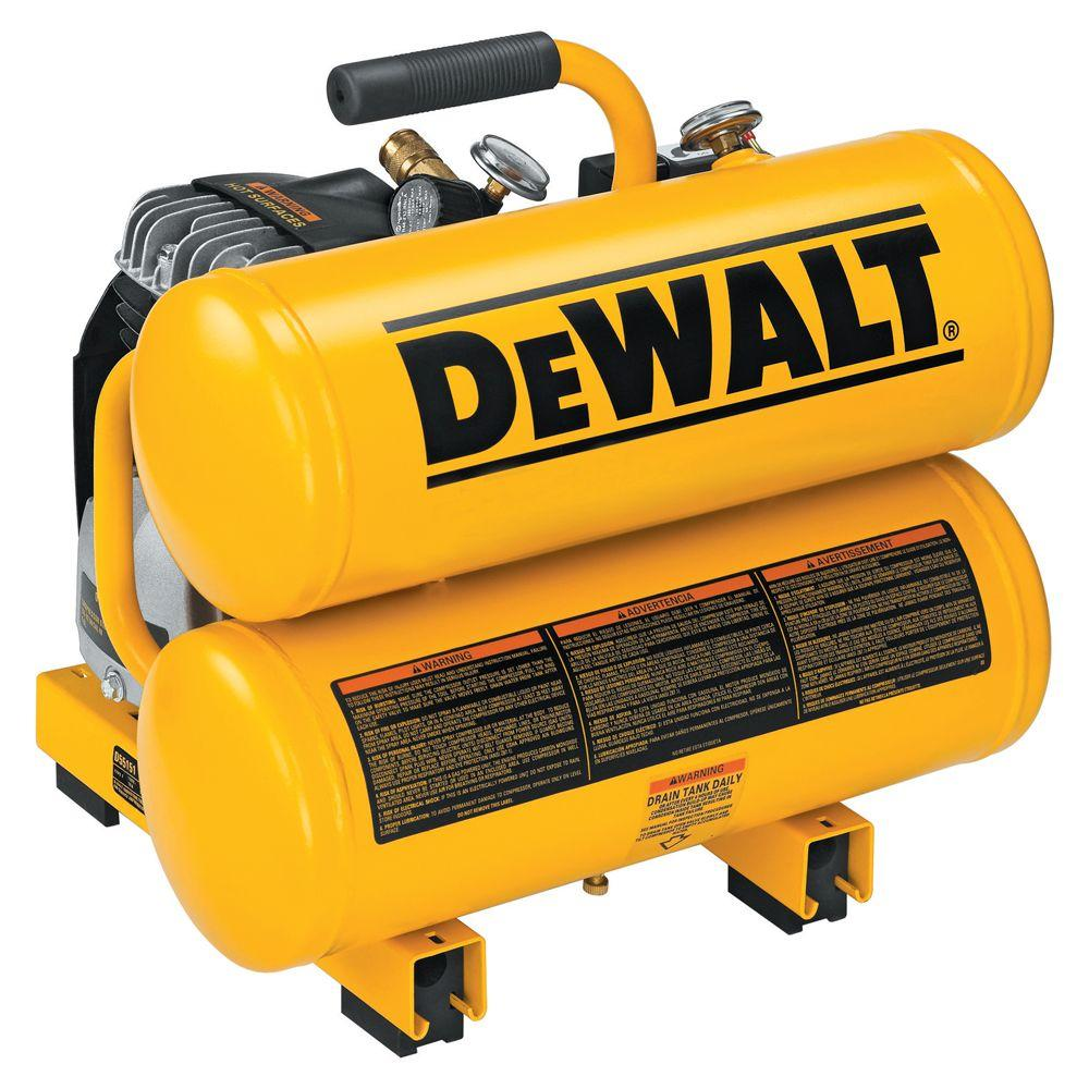 DEWALT 4 Gal. 1.1 HP Continuous Electric Hand Carry Air Compressor