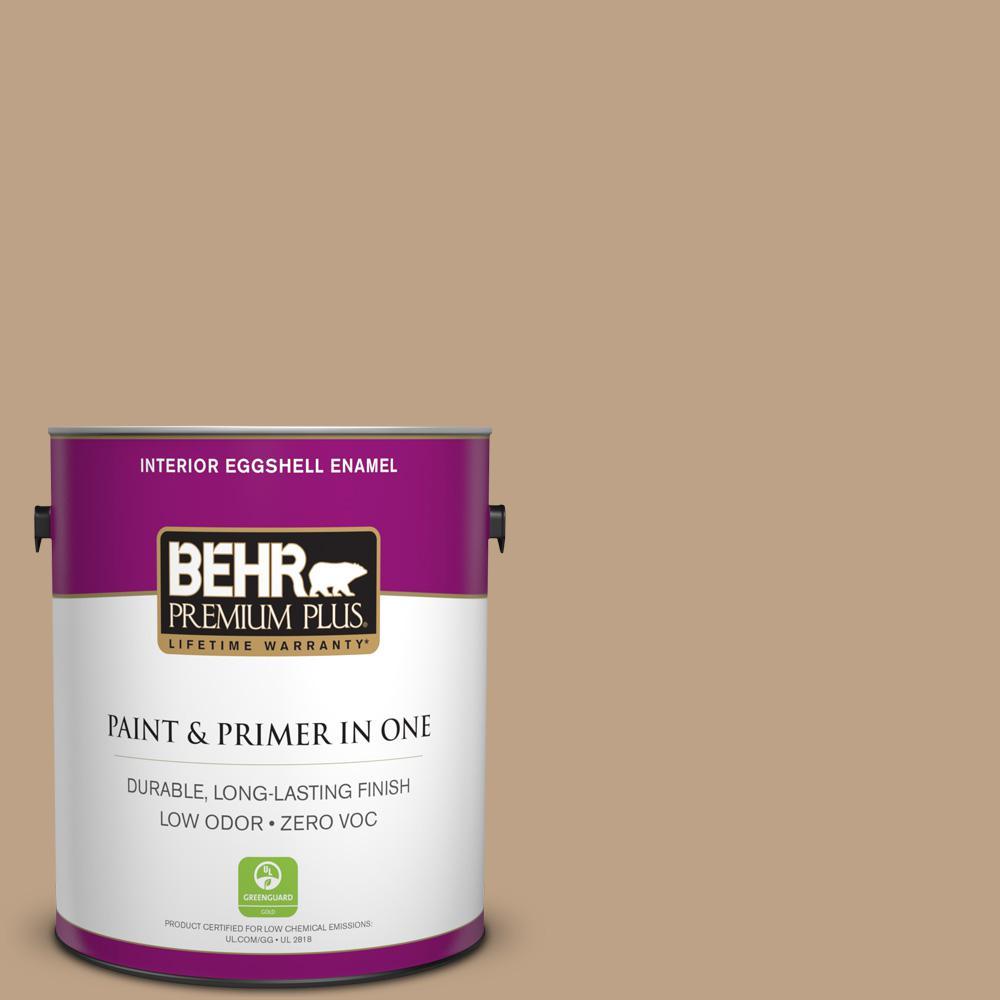 1 gal. #PPU4-05 Basketry Zero VOC Eggshell Enamel Interior Paint