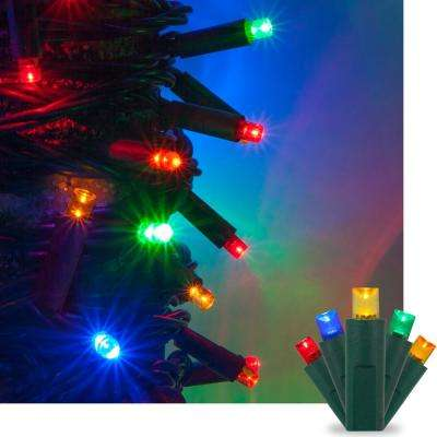 17 ft. 50-Light Multi-Color 5 mm LED Mini Light Set