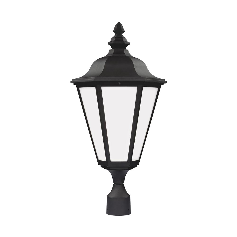 Sea Gull Lights: Sea Gull Lighting Brentwood 1-Light Outdoor Black Post