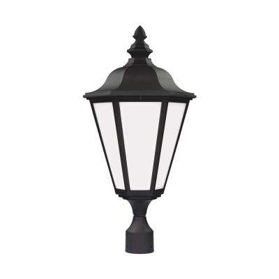 Brentwood 1-Light Outdoor Black Post Light