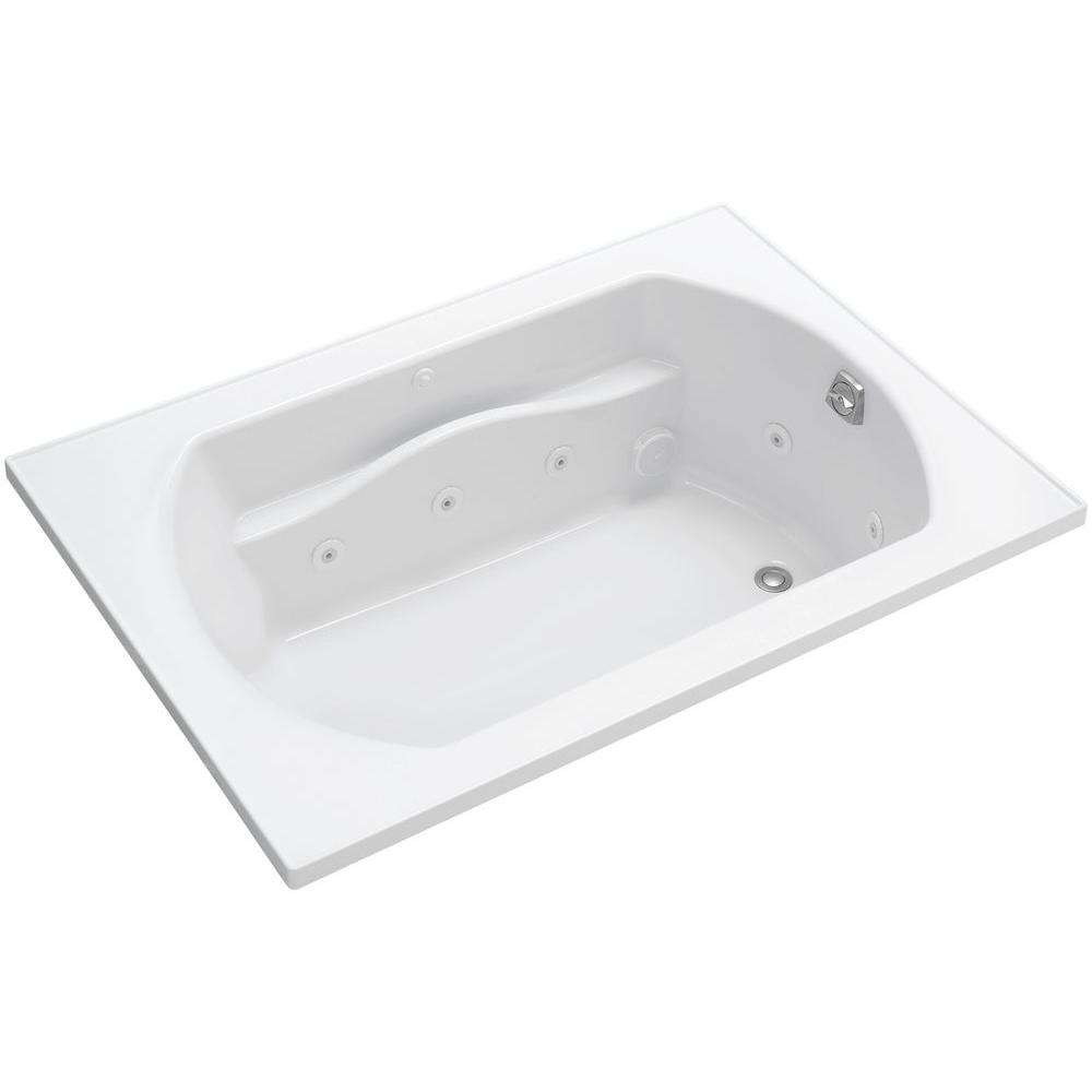 Lawson 5 ft. Whirlpool Tub with Right Drain in White