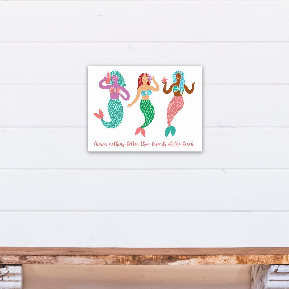 Mermaid Friends Printed Canvas Wall Art