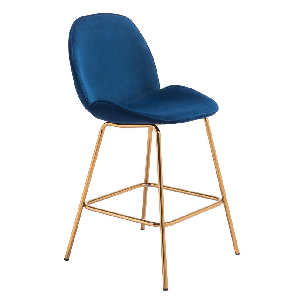 Siena 40.6 in. Dark Blue Counter Chair (Set of 2)