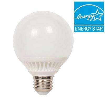 60W Equivalent Warm White Globe G25 Dimmable LED Light Bulb