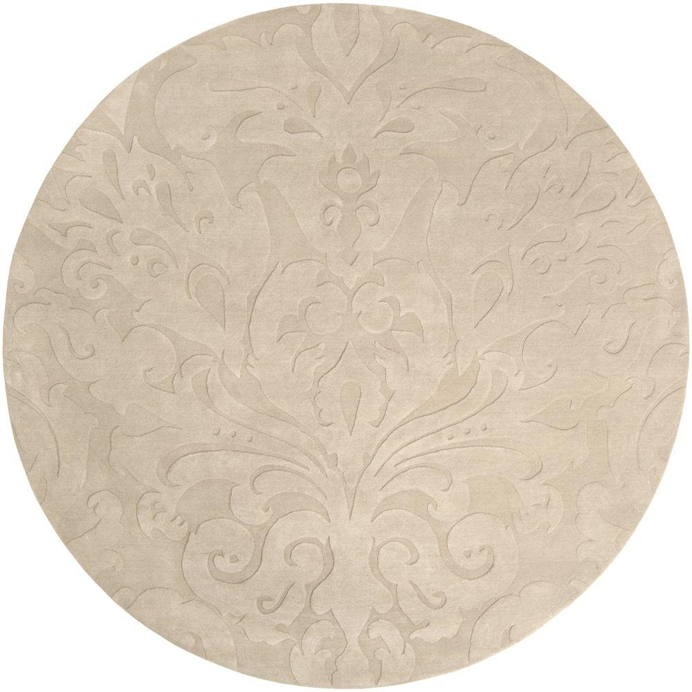 Round Rugs: Surya Candice Olson Ivory 8 Ft. X 8 Ft. Round Area Rug