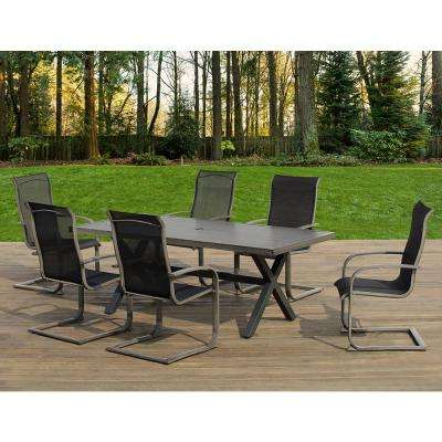Mulholland 7-Piece Aluminum Rectangular Outdoor Dining Set
