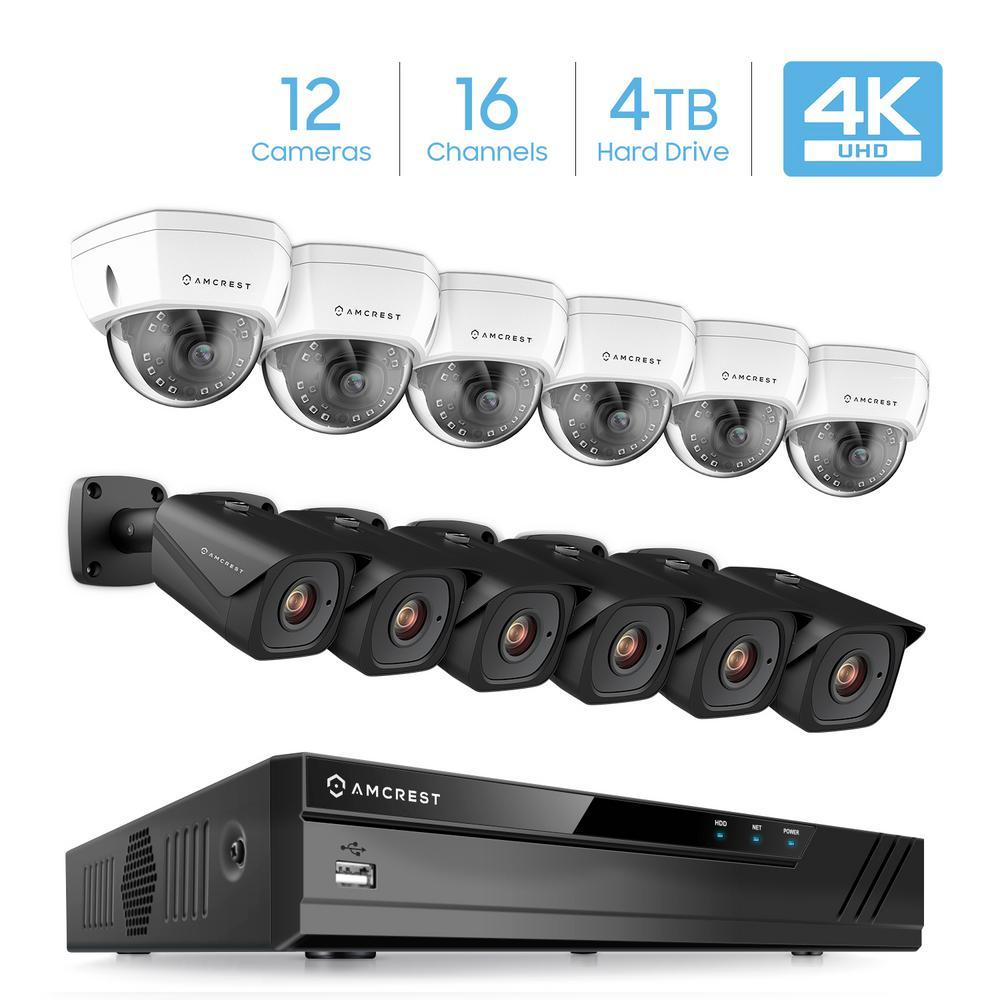 b0227123513 Plug   Play H.265 16-Channel 4K NVR 8MP 4TB Surveillance System with