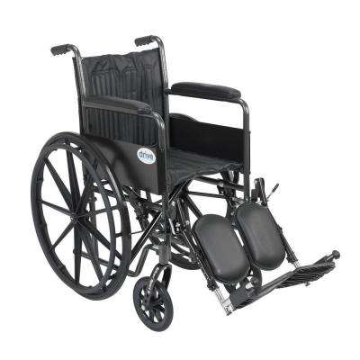 Silver Sport 2 Wheelchair, Fixed Arms, Elevating Legrests and 18 in. Seat