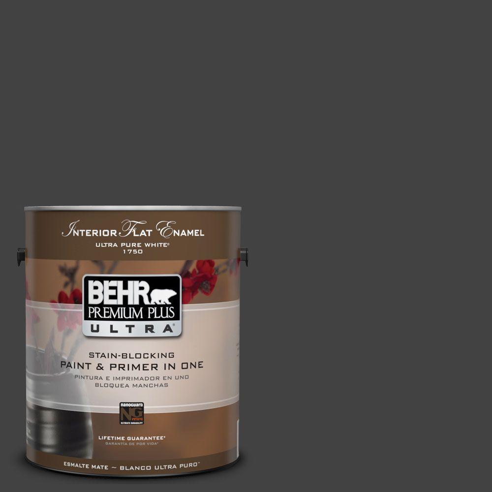 BEHR Premium Plus Ultra 1-Gal. #UL200-1 Broadway Interior Flat Enamel Paint