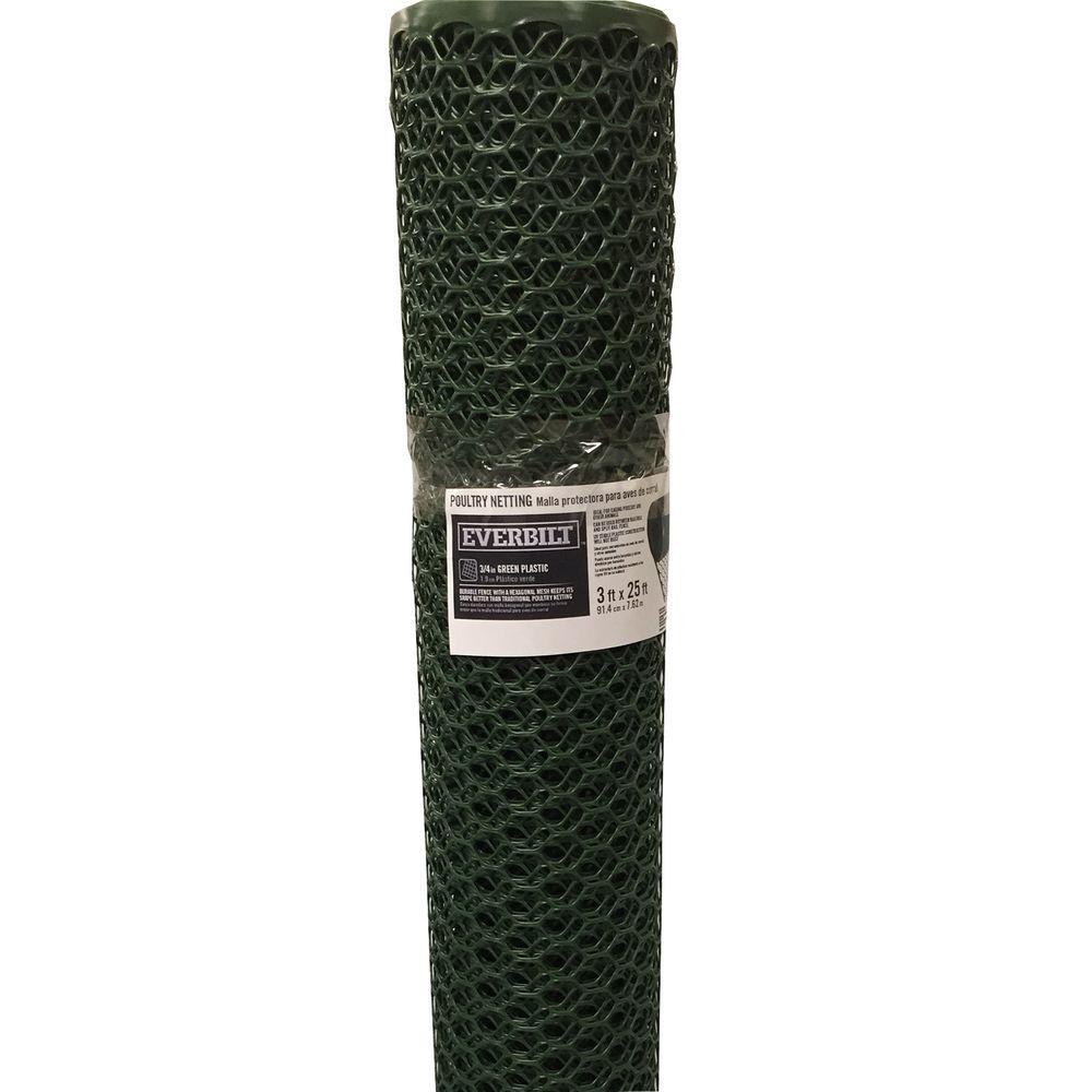 36 in. x 5-9/10 in. Green PVC Poultry Netting