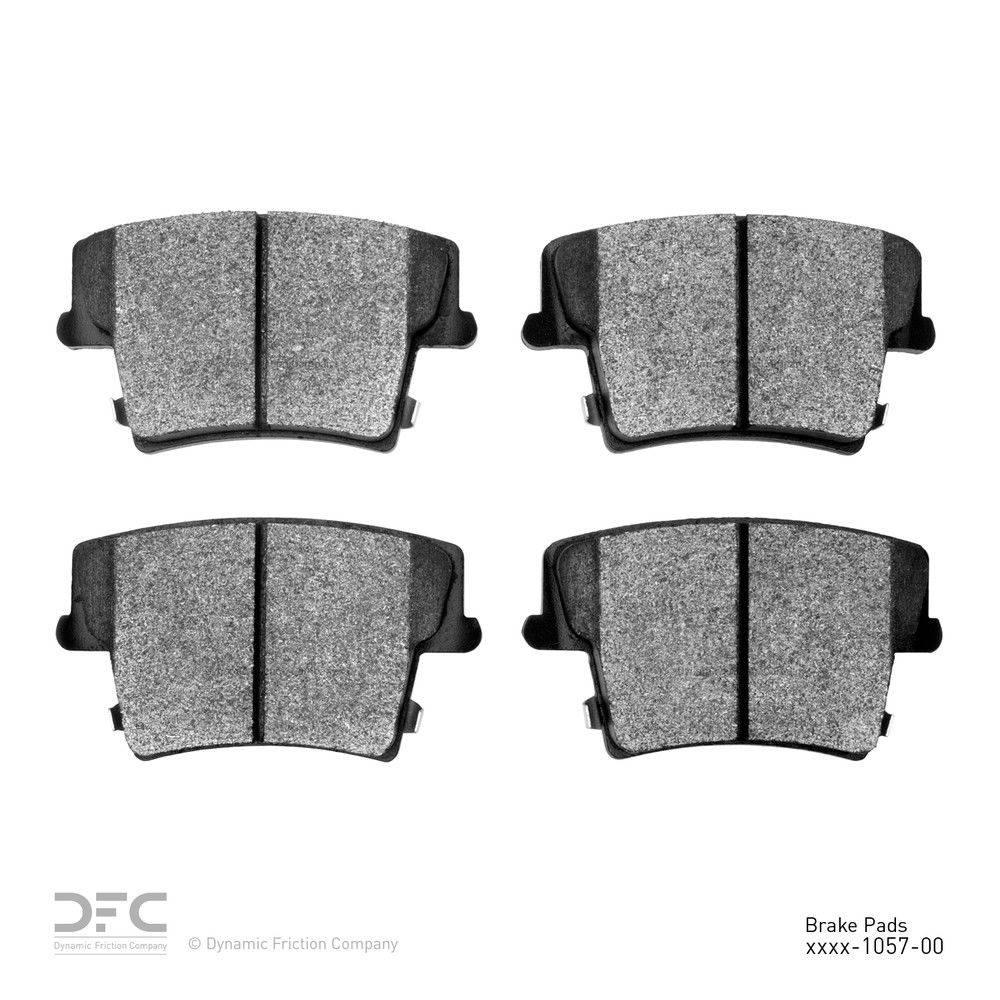 Disc Brake Pad Set-5000 Advanced Brake Pads Ceramic Rear DFC 1551-1391-10