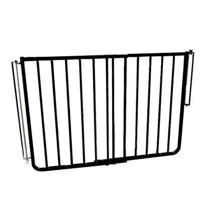 30 in. H x 27 in. to 42.5 in. W x 2 in. D Outdoor Safety Gate in Black
