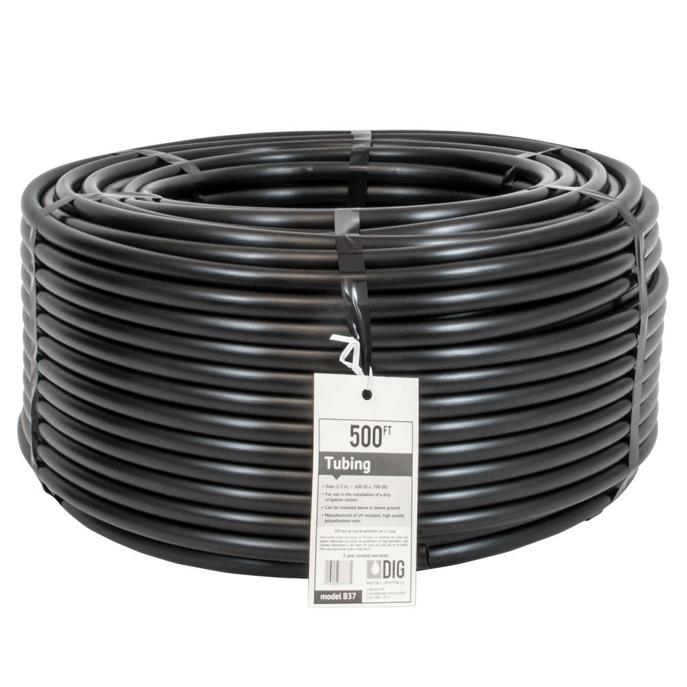 Drip Irrigation Tubing 1//2 in x 100 ft Poly Hose Emitter Garden Crack Resistant