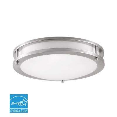 100-Watt Brushed Nickel Integrated LED Flushmount