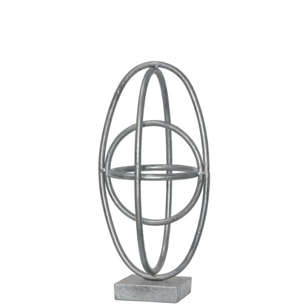 Urban Trends Collection 12.25 in. H Sculpture Decorative Sculpture in Silver