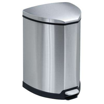 4 Gal. Stainless Steel Step-On Trash Can