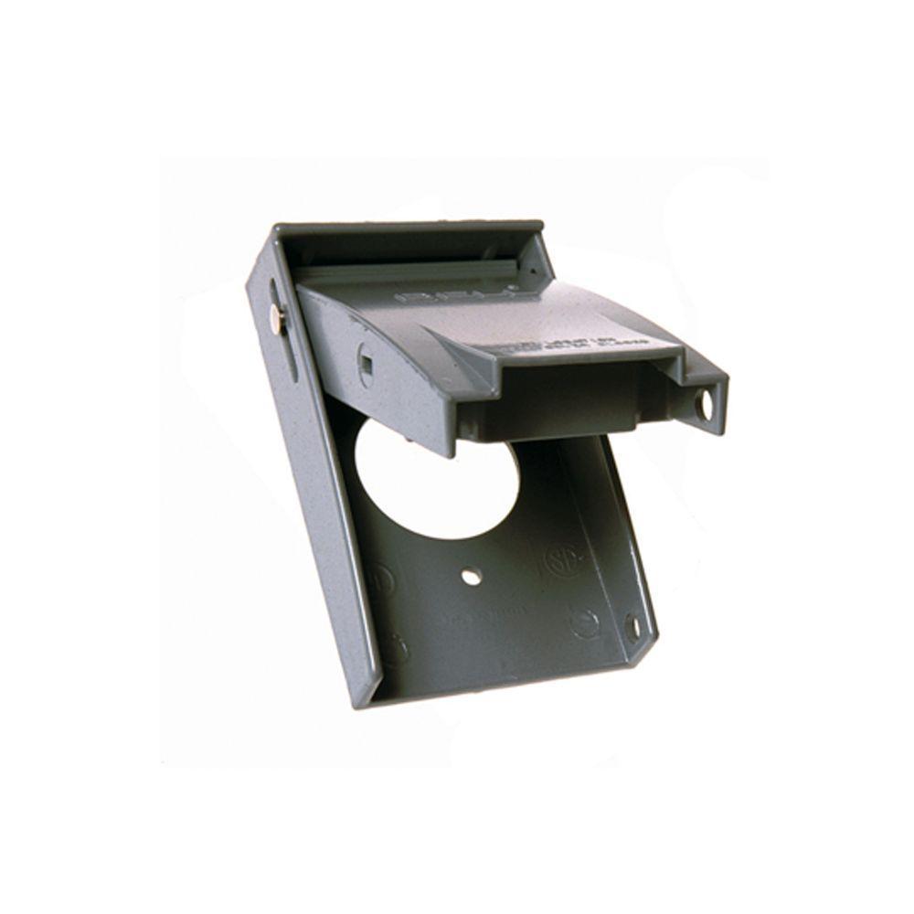 1 Gang Vertical Mount Weatherproof Flip Lid Device Cover