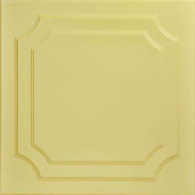 Virginian 1.6 ft. x 1.6 ft. Foam Glue-up Ceiling Tile in Concord Ivory