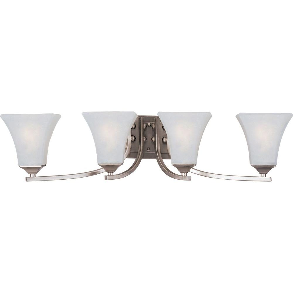 Aurora 4-Light Satin Nickel Bath Vanity Light