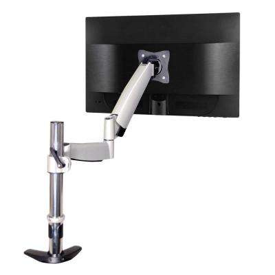 3-Way Articulating Single Monitor Desk Mount for 13 in. -27 in. Flat Panel Monitors, Silver