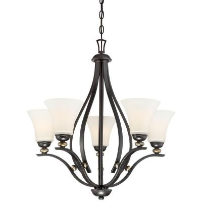 Shadowglen 5-Light Lathan Bronze Chandelier