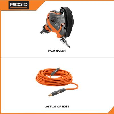 3-1/2 in. Full-Size Palm Nailer with 1/4 in. 50 ft. Lay Flat Air Hose