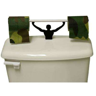 Camouflage Toilet Paper in Multi-Color with Strong Man Holder Military Camo Gift Set
