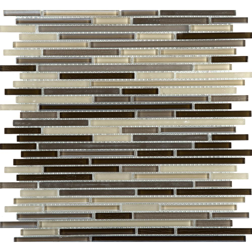 Emser Infinity Time Glossy 11.73 in. x 11.73 in. x 4mm Glass Mesh-Mounted Mosaic Tile (0.96 sq. ft.)