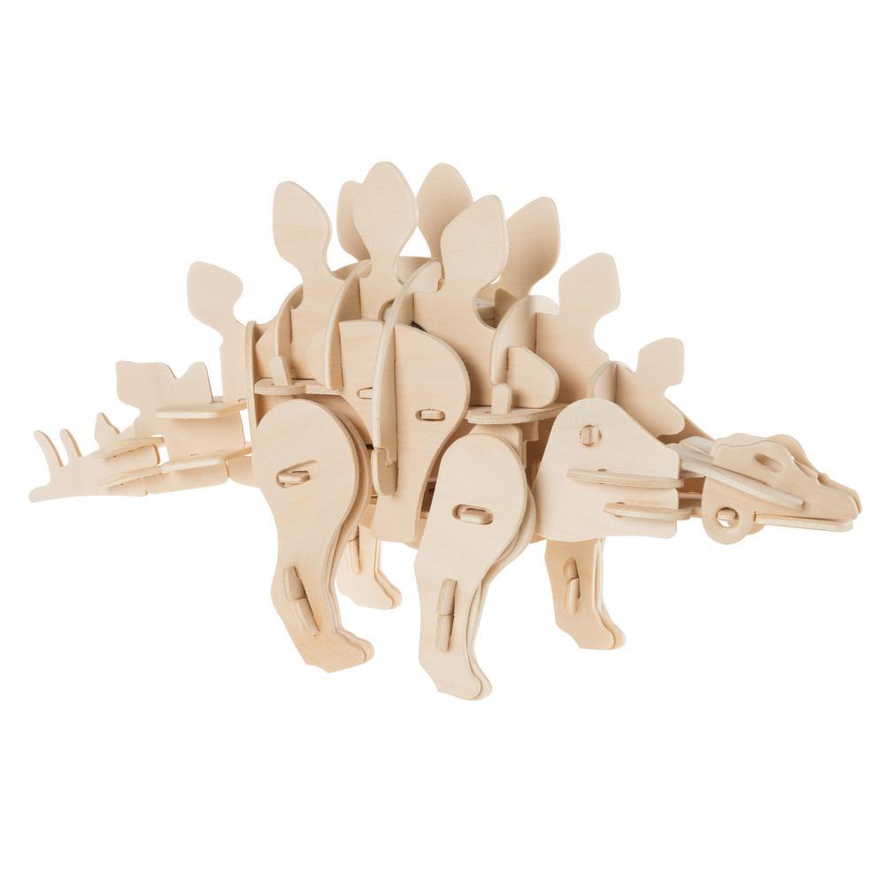 3D Wooden Stegosaurus Puzzle