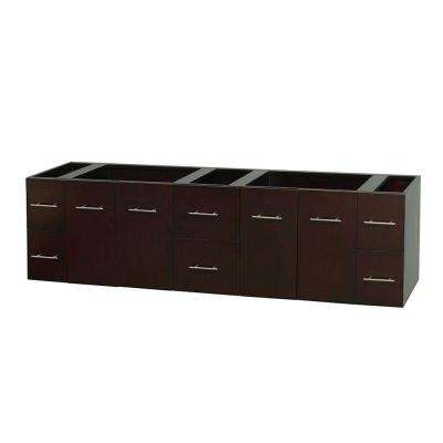 Centra 79 in. Double Vanity Cabinet Only in Espresso