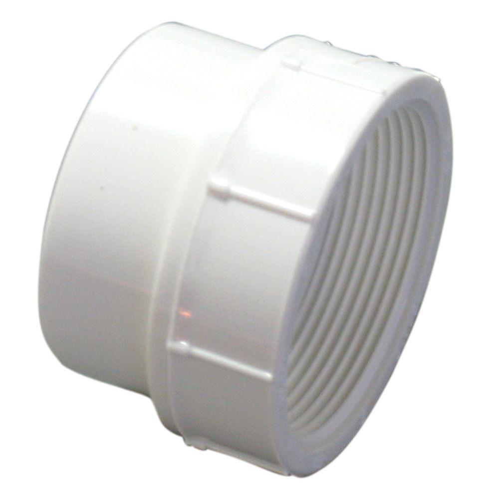 In pvc dwv street spigot fipt female adapter