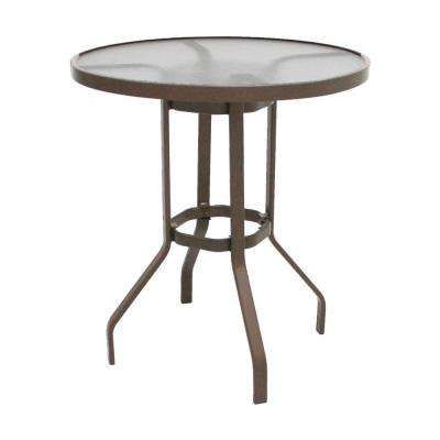 Marco Island 36 in. Brownstone Acrylic Top Commercial Bar Height Patio Dining Table