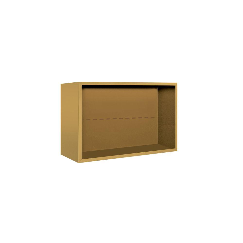 Salsbury Industries 3800 Series Surface Mounted Enclosure for Salsbury 3705 Double Column Unit in Gold