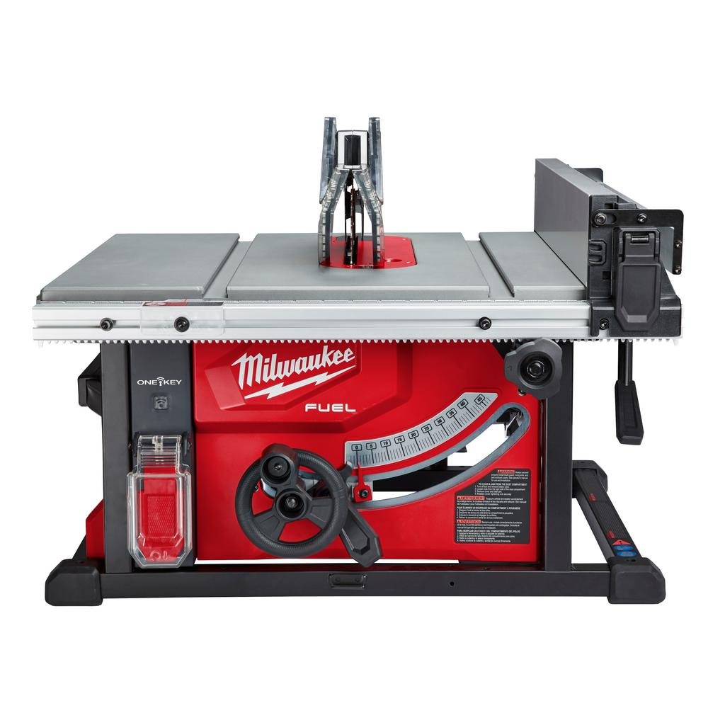 Milwaukee M18 FUEL ONE-KEY 18-Volt Lithium-Ion Brushless Cordless 8-1/4 in. Table Saw Kit W/ (1) 12.0Ah Battery & Rapid Charger