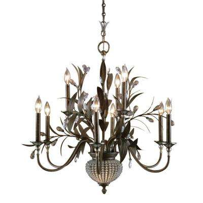 Cristal De Lisbon 11-Light Bronze Chandelier