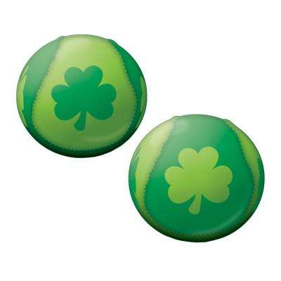 2 in. St. Patrick's Day Green Foam, Polyester Shamrock Ball (20-Pack)