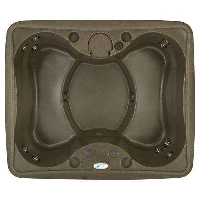 AR-150 4-Person Spa with 12 Jet in Stainless Steel, Easy Plug-N-Play and LED Waterfall in Brownstone (120-Volt)