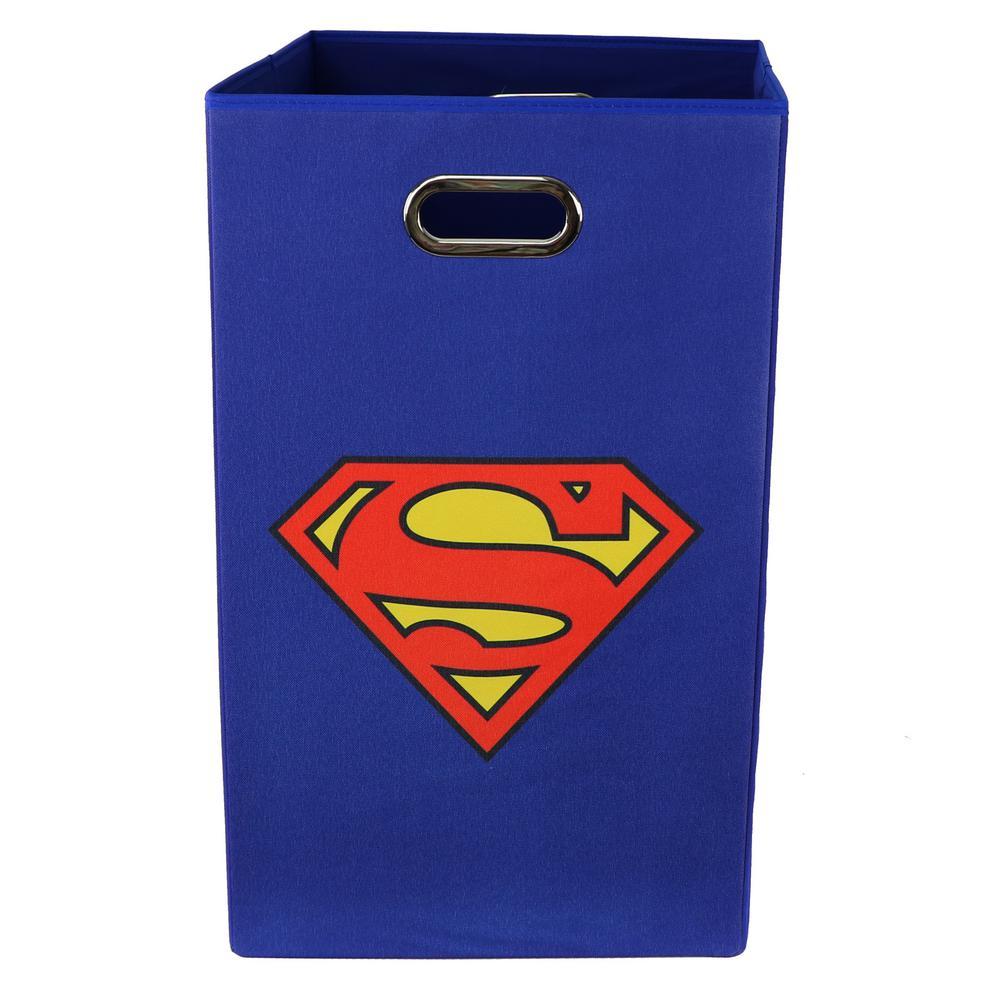 Modern Littles Superman Logo Blue Folding Laundry Basket by Modern Littles
