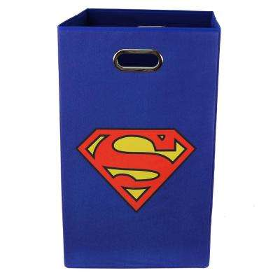 Superman Logo Blue Folding Laundry Basket